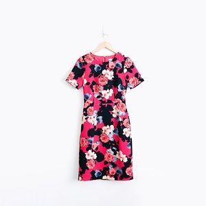 J. Crew Short-Sleeve Printed Dress